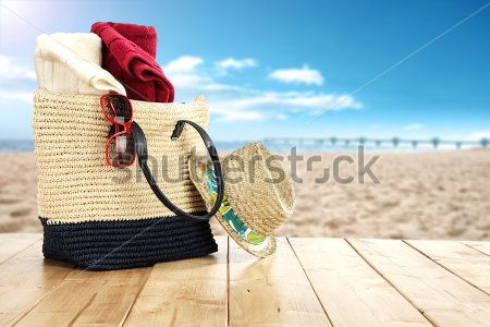 stock-photo-wooden-table-place-and-sea-and-beach-27981626912
